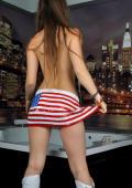 Emily is a patriotic American teen