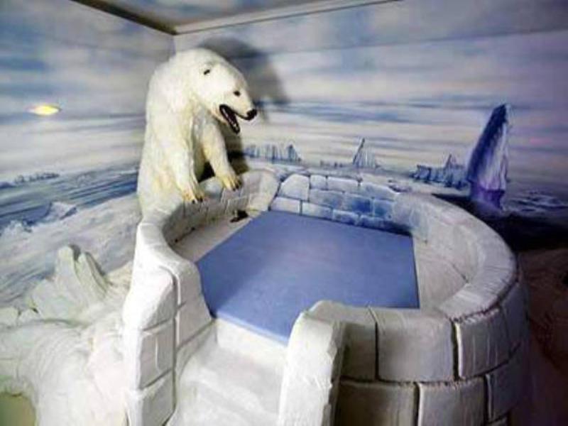 Igloo and polar bear at Big Sister Club