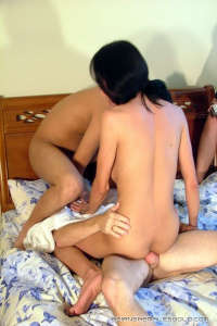 Horny asian Tranny WILLIS smashed by two