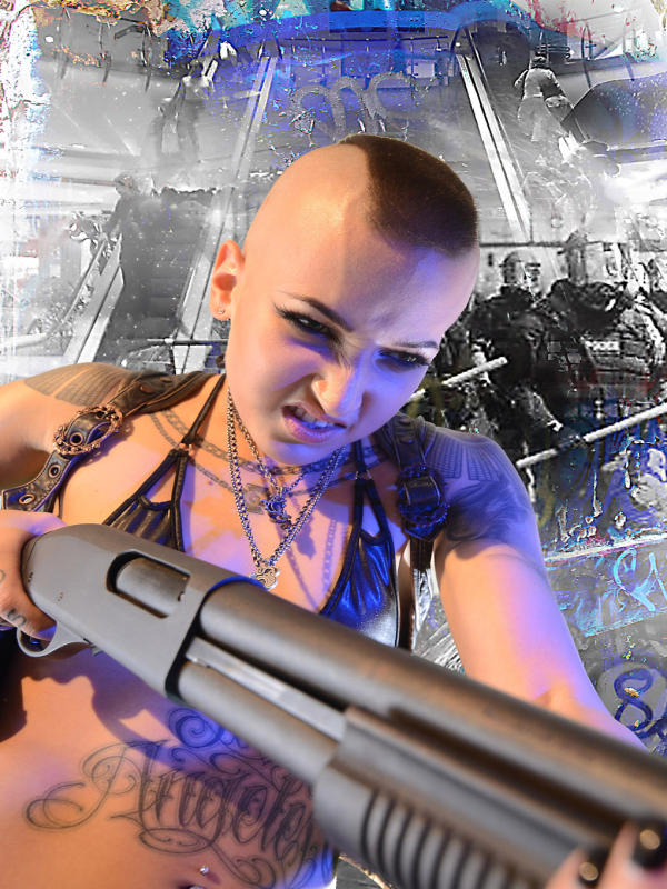 Skinny teen EMMA shows her shaved head