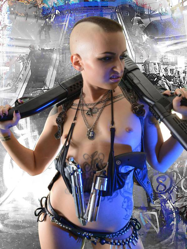 Skinny teen EMMA armed