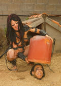 Chained and buried slavegirl.