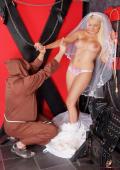Bride and monk in the dungeon