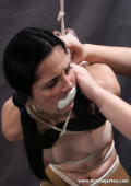 Anna bound gagged and blindfoldet