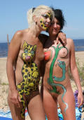 Nudist girls with colored skin