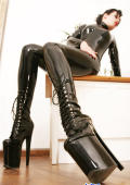 Extreme high boots for fetishmodel