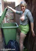 Trash cunt outside