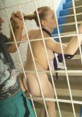 Teeny gets fucked hard behind bars.