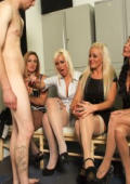 Lisa and Tia even take turns to suck his cock and balls