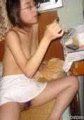 Very cute Chinese nurse getting naked