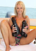 Milf loves big toys for her overused holes