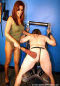 Lusty Domme with obedient slave