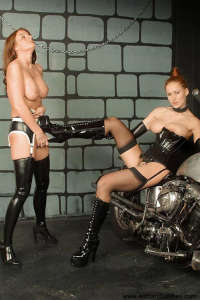 Latex slavegirl training