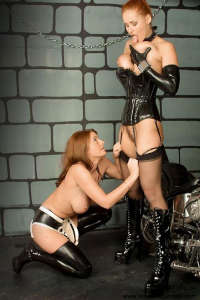 Maid and Mistress in sapphic sex