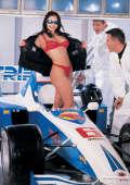 Fast bitch in Formula 1 racecar