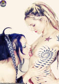Gothic girls in kinky lesbo bondage
