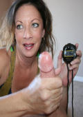 Milf Victoria takes the challenge for the worlds quickest cumblast