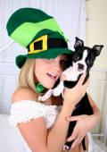 Irish girl on st patricks day.