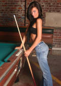 Lexi getting naked on the pool table