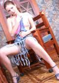 Sweet Teen Stripping in the garden