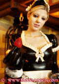 Maid gets spanked by her Mistress.