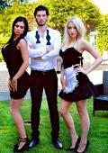 Slutty maid Grace has a sensual threesome