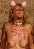 Humiliation of the piggie.