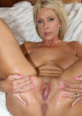 Milf spreading her fucked pussy