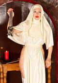 Holy bloodangel nun punishes two sinners.