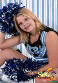 Prego cheerleader girl
