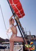 Amazing boat trip with topless teens