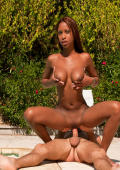 Perfect Cuban babe Katia De Lys fucked by Phil outdoor