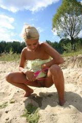 Blond pee girl PETRA