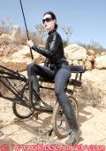 Lesbian Mistress trains her human ponys.