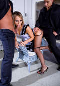 Horny maid doubled