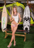 Surfer girl ready to party