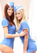 Horny airline lesbos