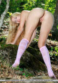 Outdoor posing with KNEE SOCKS