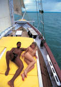 Interracial fucking on a clasic sailboat
