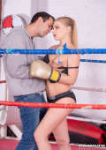 Boxing beauty gets fucked in the ring