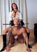 Domina Paula Montana with her new slave boy