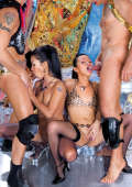 Exotic kinky asian girls in foursome action