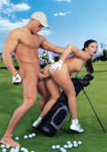 Sporty golf sex and the last hole