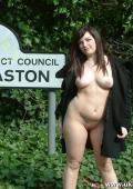 Linda nude on street
