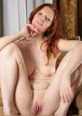 busty true redhead babe shows everything