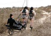 Ponygirls outdoor roleplay.