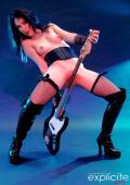 Milka Manson in a dark shoot gothic rock.