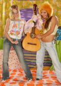Fun for two hardrocking teen lesbos.