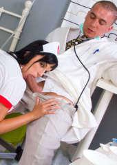 Sexy nurse Regina blowjob for the doctor