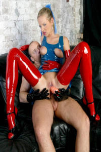 Latex and Rubbergirl in anal action 10